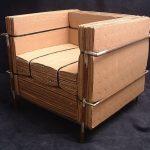 Собираем каркас кресла из картона