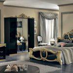 Современная спальня в оформлении стиля барокко