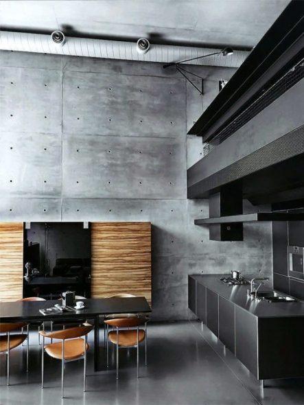 Стильная кухня в стиле хай-тек