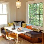 Стильный небольшой угловой диван для кухни со спальным местом для одного человека