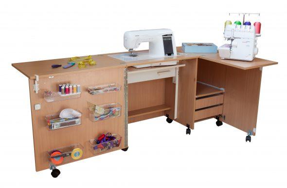 Стол для швейной машины и оверлока