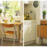 Удобство и компактность в складной мебели для кухни