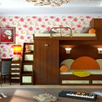 Встроенные кровать, диван и шкаф