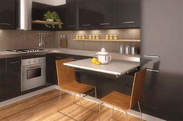 Выдвижной стол для угловой кухни