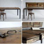 Отличный обеденный стол из старых дверей