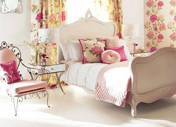 Белая спальня в стиле кантри