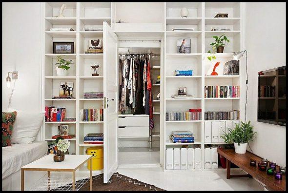 Белый шкаф-перегородка