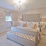 Большая двухспальная кровать с мягкой спинкой