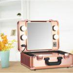 Чемодан — косметичка со встроенным небольшим гримерным зеркалом