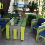 Цветная мебель из поддонов