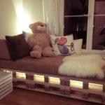 Детский диванчик с подсветкой у окна