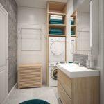 Дизайн открытых полок для ванной