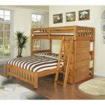 Двухэтажная кровать-чердак из натурального дерева Аскольд