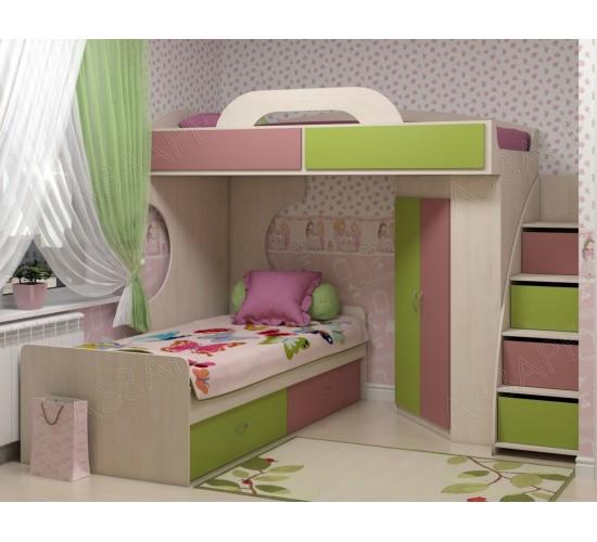 Двухъярусная кровать Дори пинк