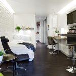 Гостевая спальня оформленнная в современной интерпретации скандинавского стиля