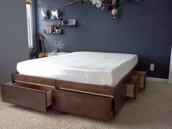 Готовая кровать подиум