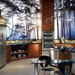 Интерьере правильной кухни из дерева