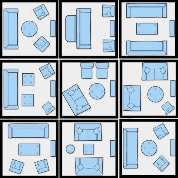 Как расставить мебель в зале