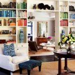 Книжный шкаф-перегородка в белом цвете