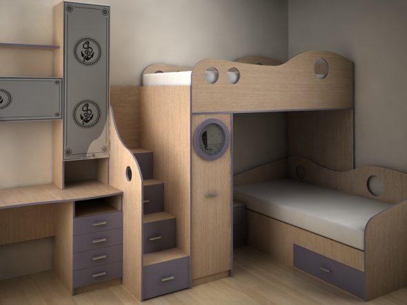 Кровать в морском стиле