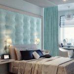 Красивая комната с необычным оформлением кровати
