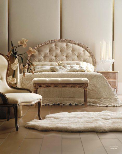 Кровать с полукруглым изголовьем