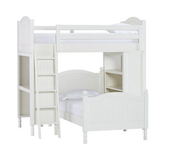 Двухярусная кровать под углом