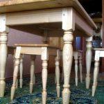 Кухонный комплект резной мебели выполненный своими руками
