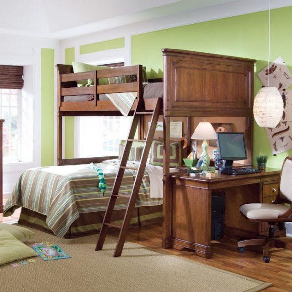Кровать -чердак с дополнительным спальным местом внизу