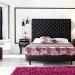 Оригинальное чёрное изголовье из полимерного материала для мягкой кровати