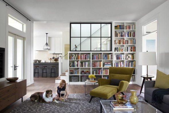Книжный шкаф-перегородка