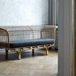 Плетеный диван ручной работы