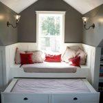 Подиум с гостевой зоной и выдвижной кроватью