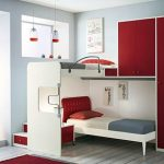 Подростковая комната с двухъярусной кроватью