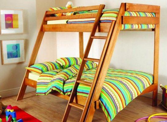 Практичная и красивая двухъярусная кровать