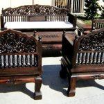 Пример резной мебели в интерьере
