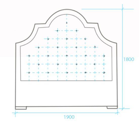 Схема для изготовления мягкой спинки