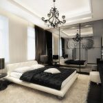 Шикарная черно-белая спальня