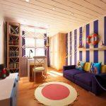 Шкаф-перегородка для разделения пространства детской