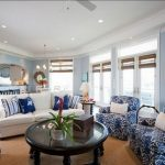 Синие диваны и кресла в интерьере