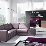 Стильная гостиная с угловым диваном