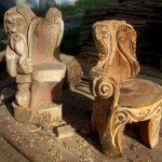 Стулья выполненные скульптурной резьбой