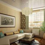 Светлый диван необычной формы