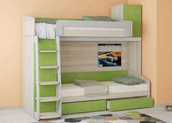 Установка в комнате двухъярусной кровати