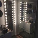 Узкое зеркало с подсветкой