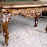 Вариант декора и узора резного стола из дуба