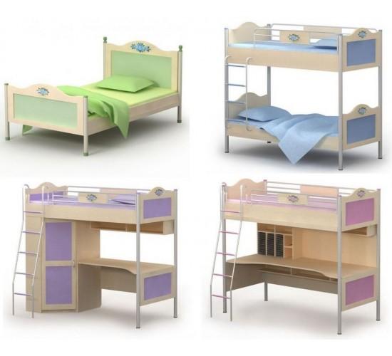 Виды двухъярусных кроватей