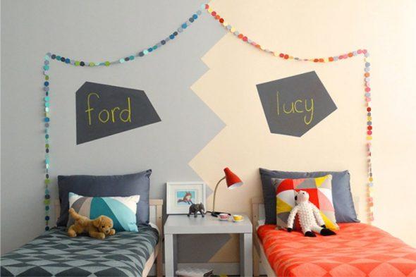 Визуальное зонирование детских спальных мест