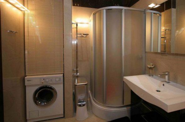 Встраиваемый шкаф в ванной