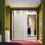 Встроенный шкаф с подсветкой для прихожей